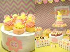 Zoe's Lemonade and Cupcakes Themed Party – Dessert Spread