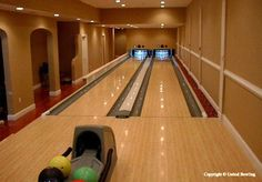 A home bowling alley. Cool!