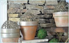 Metallic Terra Cotta Pots