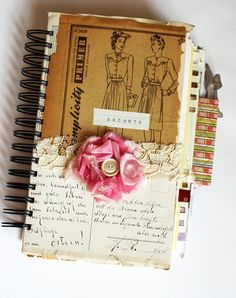 journal cover with vintage pattern image