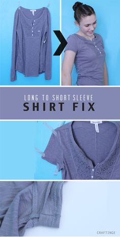 How To Turn a Long Sleeve Shirt into a Short Sleeve One
