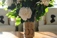 Dear Lillie: Burlap Vase Tutorial