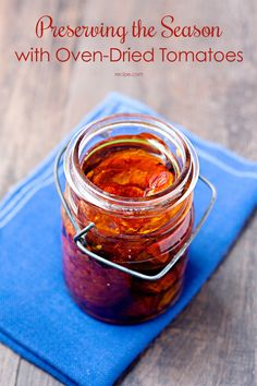 Preserve #tomatoes with this recipe to use them in sauces, on pasta, or to top a piece of toasted bread.