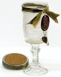 Redneck Wine Glass with Coaster #DIY