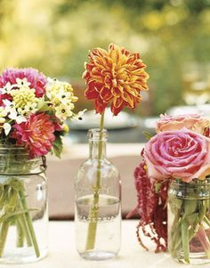 Wedding, Flowers, Reception, Centerpiece, Bottles