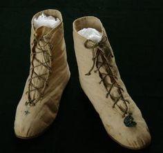 Nankeen half boots, 1795-1810. Image @Virginia Kraljevic Kraljevic Kraljevic Review