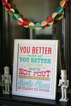 eighteen25: Santa Claus Is Coming To Town // NEW Christmas Print Adorable- love this!!