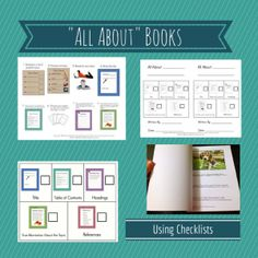 """""""All About Books"""" writing unit. Great for teaching kids to write informational texts. $"""