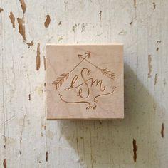 Custom Monogram Stamp // {arrow}