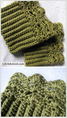 boot cuffs pattern ~ free pattern
