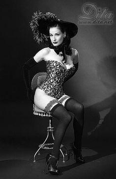 Dita von Teese - Burlesque and Pin-up artist.