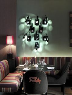 Very cool. Upcycled old telephones, now become a unique wall/light treatment (Crosby Street Hotel, NYC)