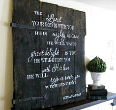 Zephaniah barn door sign