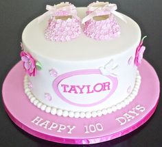 100 days cake for Taylor - by Partymatecakes @ CakesDecor.com - cake decorating website