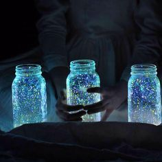 DIY glowing firefly jars
