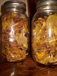 Dehydrated potatoes for storage
