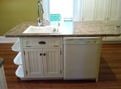 Island with sink and dishwasher