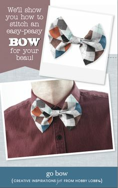 Looking for the perfect Father's Day gift? We'll show you how to stitch an easy-peasy bow for your beau!
