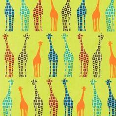 curtains, diaper bags, giraff fabric, kid rooms, baby blankets, urban circus, earth, prints, giraffes