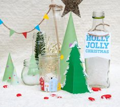 Free Printable Tabletop Holiday Village | Handmade Charlotte