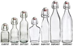 Specialty Bottle - I love these Swingtop Glass Bottles