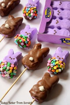 Chocolate-Dipped Peeps | Tastes Better From Scratch