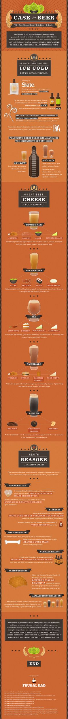 Case For Beer * infographic * Why You Should Enjoy It & Enjoy It Right