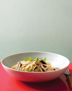 Stir-Fried Noodles with Eggplant and Basil Recipe -- Ready in under 30 minutes!
