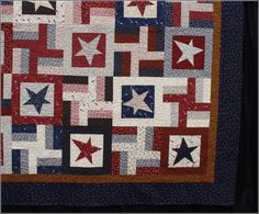 "I love this quilt!  From the Buggy Barn book ""Star Crossing."""