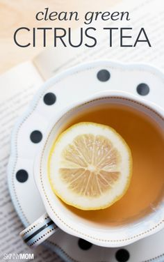 Try this clean green citrus tea!