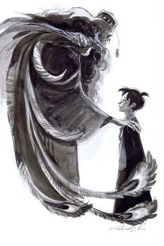 Harry Potter and Prof. Dumbledore by Mindy Lee *