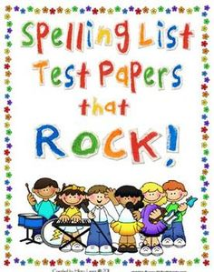 This book is full of spelling test papers. This 100 page book has borders to make spelling test day, FUN!  Each page is for 15, 18, or 20 words per...