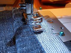 hem jeans with original cuff