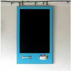 Cabinet door repurposed into a chalkboard
