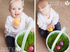 Grow your own grass for the Easter basket! So cute :)
