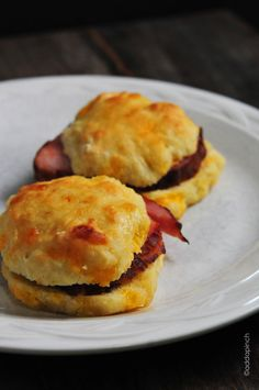 Ham and Cheddar Biscuits with Poppy Seed Spread