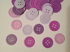 FREE SHIPPING 100 purples button confetti glitter by jessicasue34, $5.75