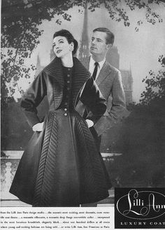 That coat is sublime! #vintage #fashion #1950s #ad