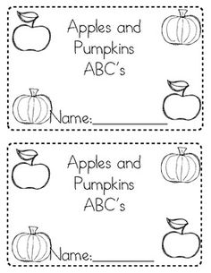 Apples and Pumpkins ABC Matching Book (Free)