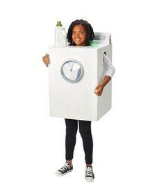 DIY Washing Machine Halloween Costume From a Cardboard Box
