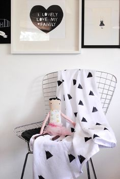 diy*hand stamped swaddle blankets.