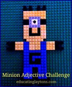 Minion Adjective Challenge - free language arts worksheet.