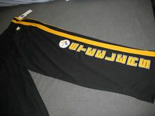 NFL Pittsburgh Steelers Football Warm Up Track Gym Pants Mens Medium Nwt Black