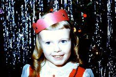 1957 vintage photo 35MM 1950s christmas interior decorations midcentury