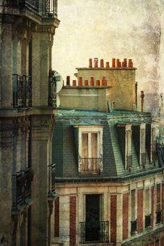 'Parisian roofs' by Christian Müller.| ღஜღ~|cM