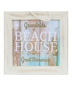 Look at this Grandparent Gift Company 'Grandkids & Beach House' Framed Sign on #zulily today!