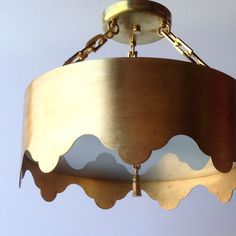 Coleen and Company Tole Tent Semi Flush in hand applied gold leaf. http://www.coleenandcompany.com/the-tole-tent-semi-flush/