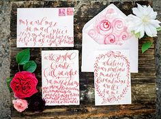 watercolor calligraphy invitation
