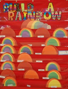 Each child receives a color for positive behavior. If at the end of the week they have a complete rainbow they get a reward.
