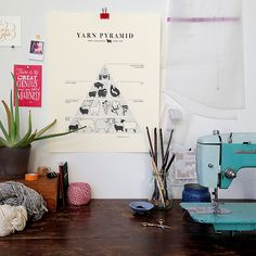 YARN PYRAMID letterpress poster from Fringe Supply Co.